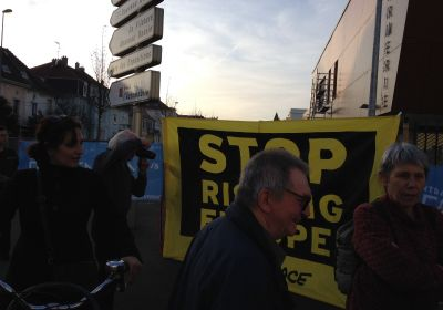 Spontane Anti-Atom-Demo in Mulhouse